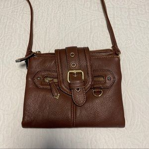 Handbags - Brown Leather Crossbody Purse